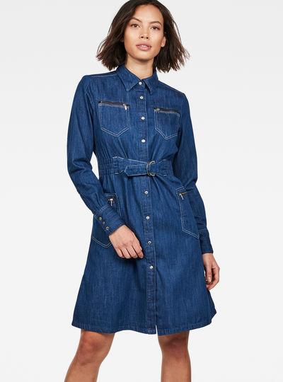 Tacoma Zip Straight Flare Dress