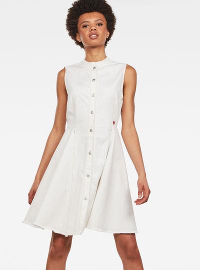 Bristum Slim Flare Fringe Kleid