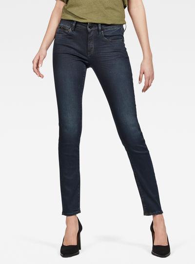 3301 Studs Mid Skinny Jeans