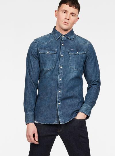 Heren Overhemd Met Drukknopen.Overhemden Heren Just The Product Heren G Star Raw