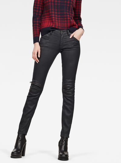 5622 Mid-Waist Knee Zip Mid Skinny Jeans