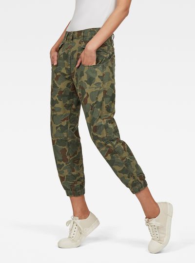 Army Radar Mid Waist Boyfriend Ankle Trousers