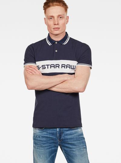 Color Block Slim Poloshirt