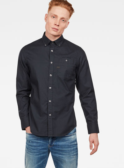 Bristum Button Down Pocket Slim Hemd