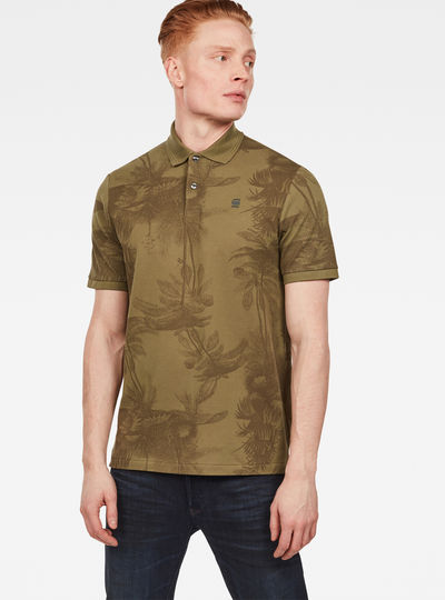 Flax All-over Print Regular Poloshirt