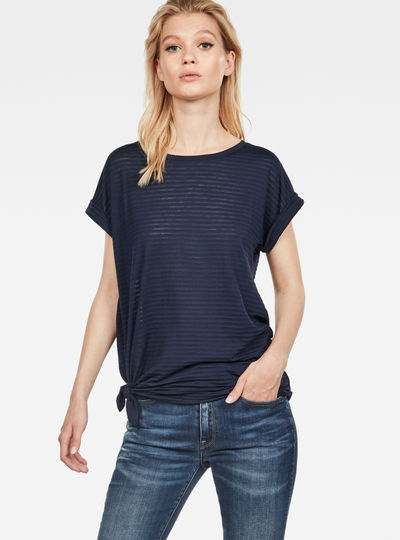 T-shirt Luge Knotted
