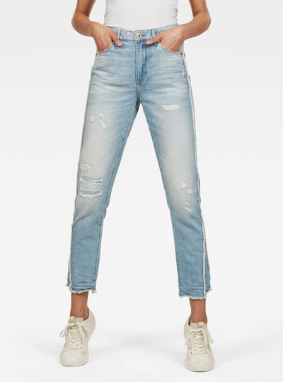 3301 Fringe High Straight Jeans