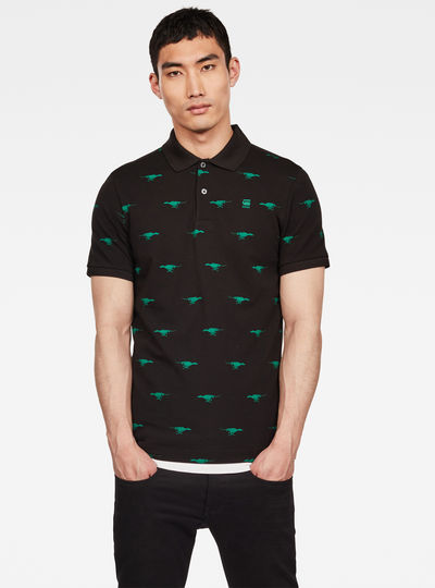 Polo Run Dog Print Slim