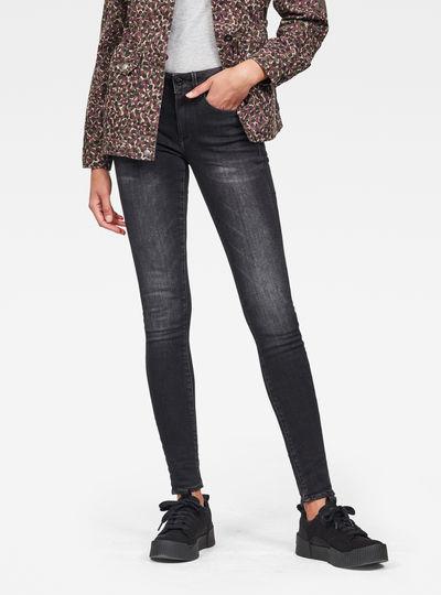 3303 Studs Mid Skinny Jeans