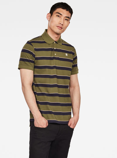 Halite Block Stripe Regular Polo
