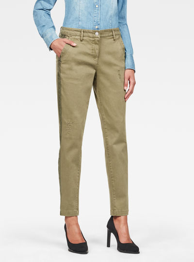 Bronson Mid Waist Skinny Ankle Trousers