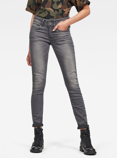 Lynn Mid Waist Skinny Jeans