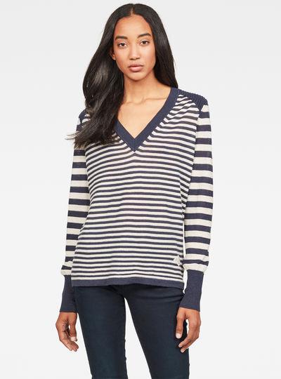 Hoop V-Knitted Sweater
