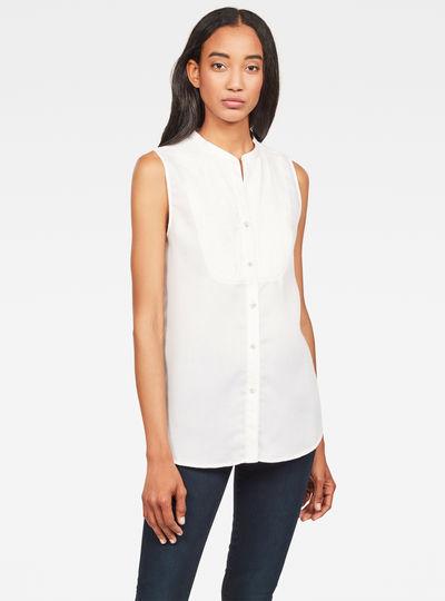 Camisa Pleated Bib