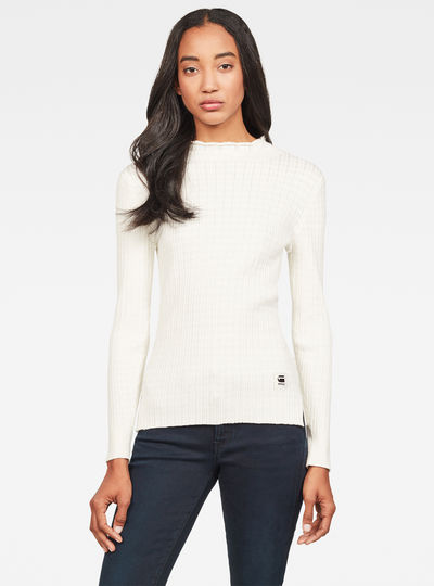 Silber Mock Turtle Knit