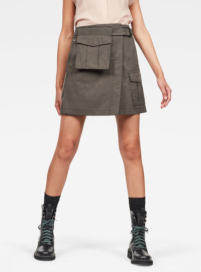 Rovic Wrap Cargo Skirt