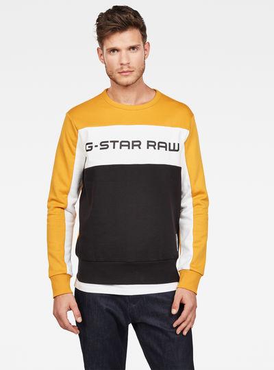G-STAR RAW Graphic 15 Core Round Neck Sudadera para Hombre