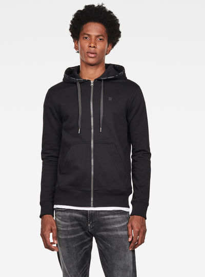 Graphic 8 Core Hooded Zip Through Sweatshirt