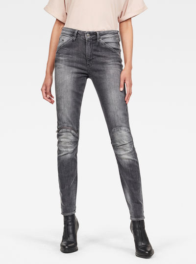 5622 Knee Zip High Skinny Jeans