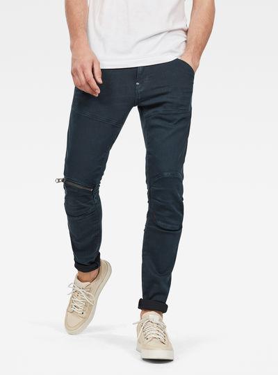 5620 3D Zip Knee Skinny Gekleurde Jeans