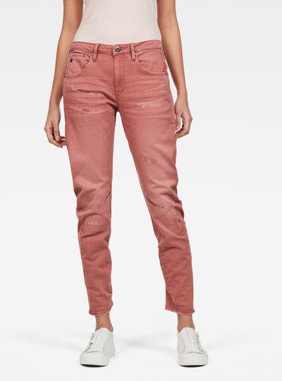 Arc 3D Low Boyfriend Earthtrace Gekleurde Jeans