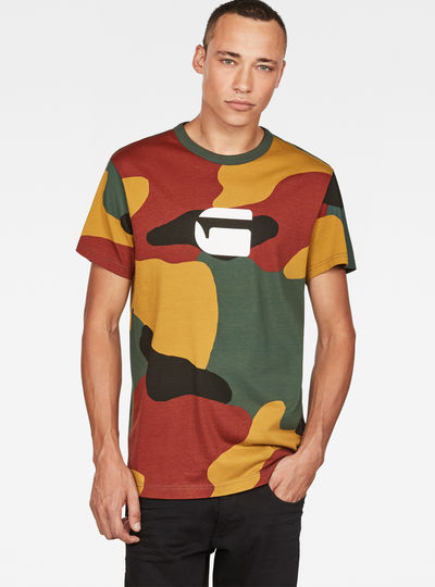 Jigsaw Camouflage X25 Print T-Shirt