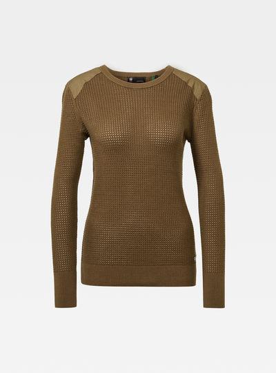 Meshi r knit wmn l\s