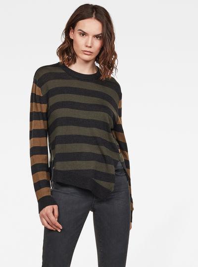 Asymmetric Knitted Sweatshirt