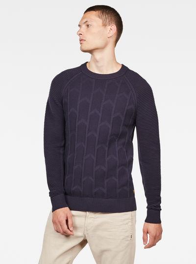 Suzaki Biker Knitted Sweater