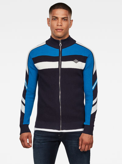 Axler Zip Through Strickpullover