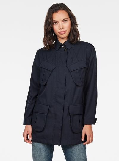 Chisel A-line Field Jacket