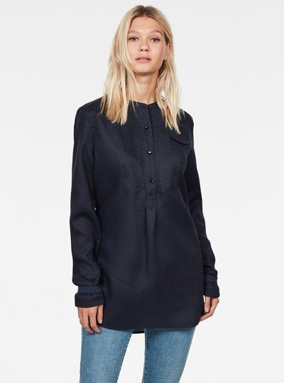 Pleated Bib Tunic Shirt