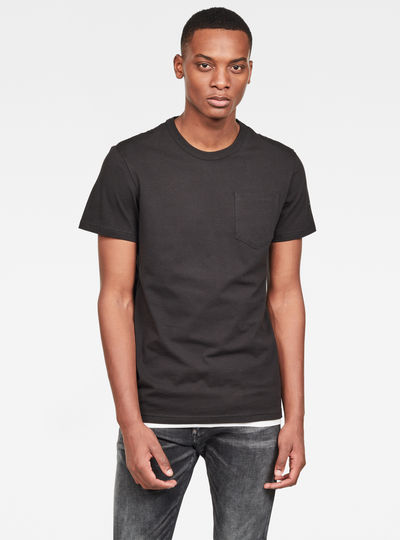 Straight Round Pocket T-Shirt
