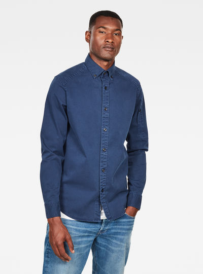 Stalt Button Down Pocket Straight Shirt