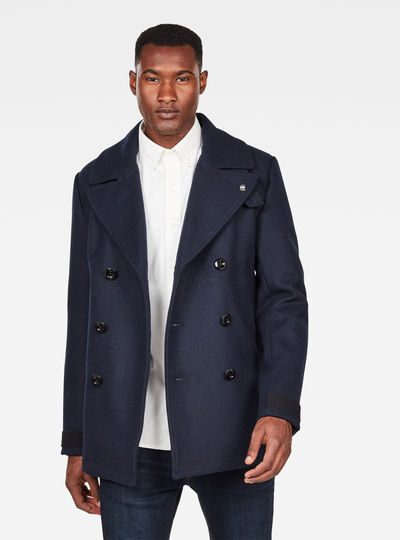 Traction Wool Peacoat