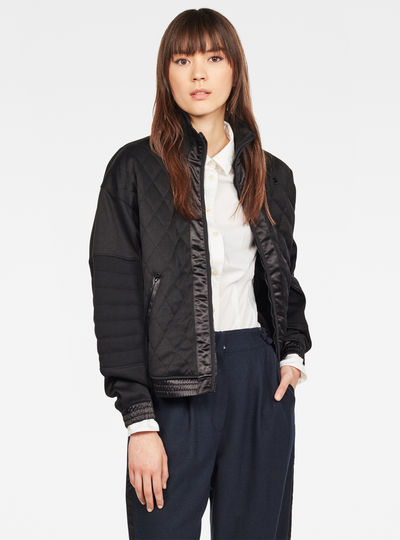 Beetle Quilted Zip Sweat Jacke