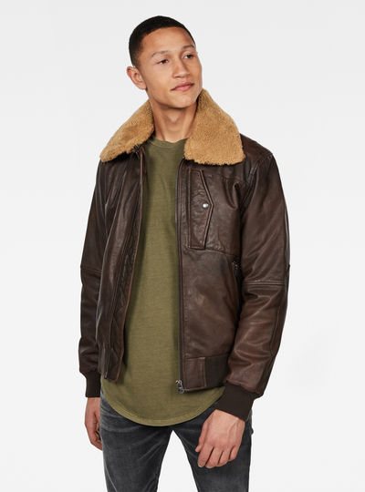Bollard Leather Bomberjacke