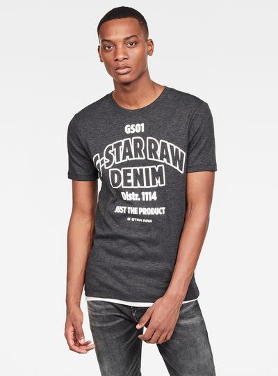 Slim Logo Denim T-Shirt