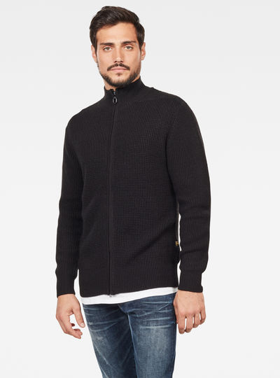 Stagione Zip Through Knitted Sweater
