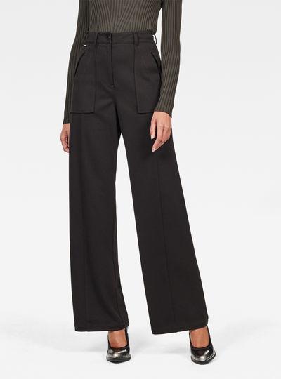 Pantalones Army High Wide Leg
