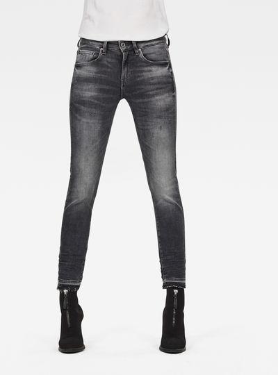 G-STAR RAW Damen 3301 Mid Skinny Repair Ankle Jeans