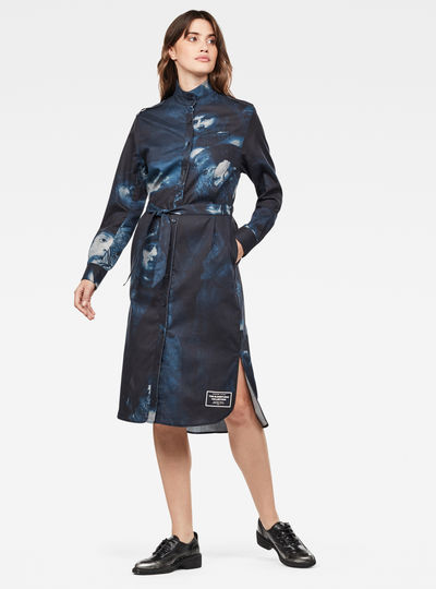 Lanc Midi Shirt Kleid