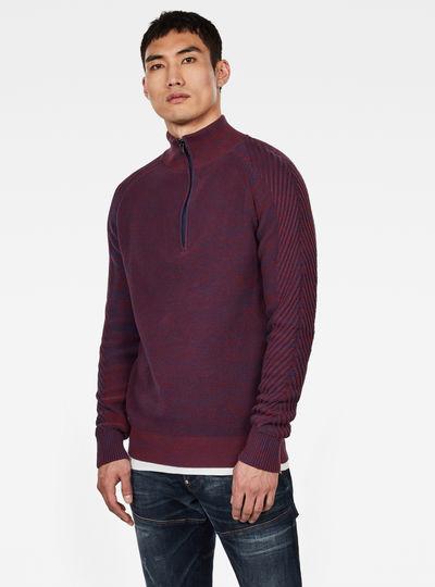 Muzaki 1\2 Zip Knitted Sweater