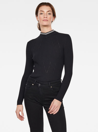 Lynn Mock Turtleneck Knitted Sweater