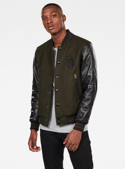 Bolt Leather Bomber Jacket