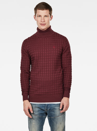 Core Table Turtleneck Knitted Pullover
