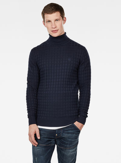 Jersey Core Table Turtleneck Knitted