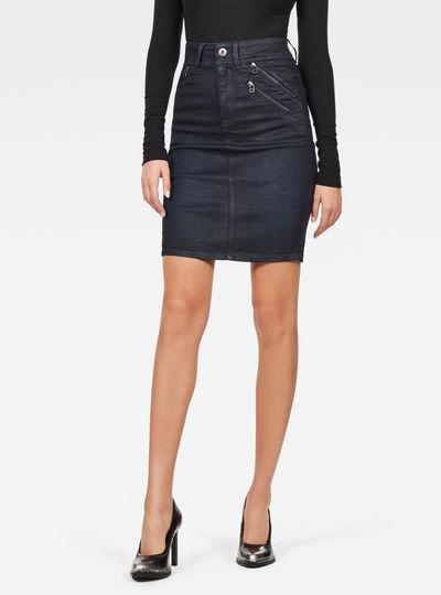 Lynn Biker Slim Skirt