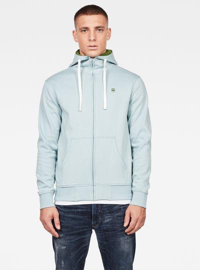 2-Tone Zip Through Pullover