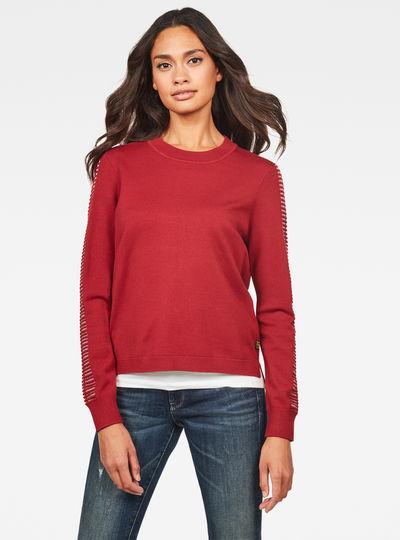 Guzaki Round Neck Knitted Sweater